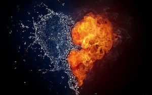 水と炎の♡